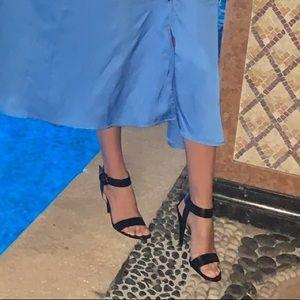 Sexy black leather Gianvito Rossi sandals